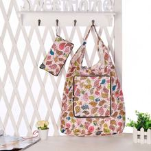 Foldable 190T Polyester Shoulder Carry European Tote Bag