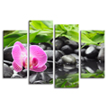 Pinky Orchid Flower Photography Art Print on Canvas Modern Landscape Canvas Painting for Living Room Decoration