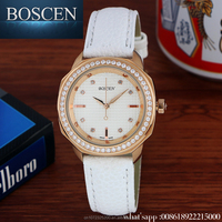BOSCEN 2016 Women Diamond Vogue Watch,China Wholesale Hot sale New Luxury Lady Watches