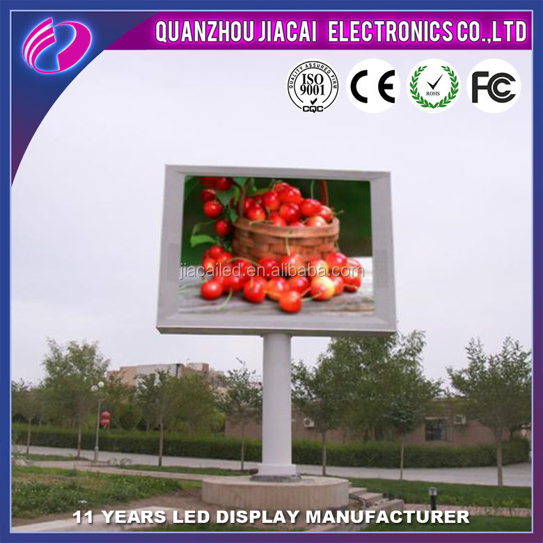 P16 full color fujian advertising big outdoor tv screen displays led