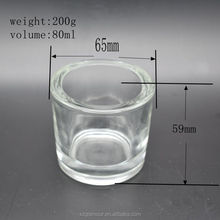 80ml Wholesale wedding tall table decoration crystal votive glass candle holder