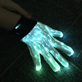 luminous color change fiber optic lighting stage performance dance party LED light up gloves