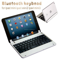 Wireless folding Bluetooth keyboard for ipad mini ipad mini2 ipad mini3 Rotary shaft structure