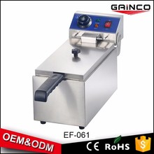 restaurant kitchen equipment Stainless Steel electronics fryer electric deep fryer with 1 tank EF-061