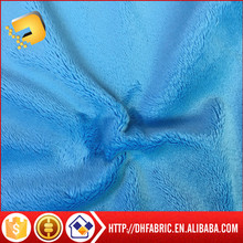 polyester warp knitting super soft short plush fabric for making soft toys