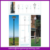 2014 best quality 3m-6m residential light poles