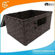 Cheap Handmade Paper Storage Basket With Lid