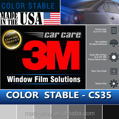 Genuine 1.52x30m CS35 Color Stable 35% VLT Housing Automotive Car Truck Roll 3M Window Tint Film