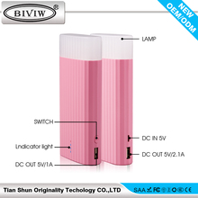 High Capacity 9000mAh power bank with LED light -- OEM/ODM