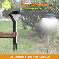Rechargeable Auto High Lumen Solar Garden Lights For Path White/Yellow