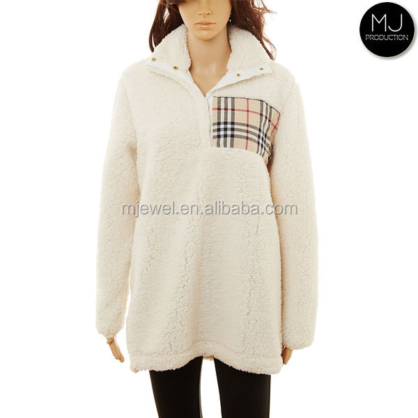 Women plus size winter fleece monogrammed pullover wholesale