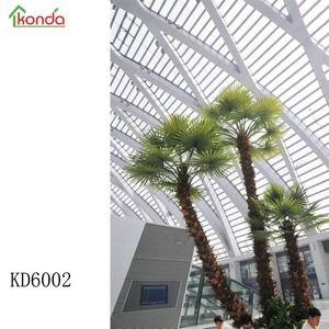 Hot sale eco-friendly big indoor and outdoor artificial palm tree evergreen ornamental tree