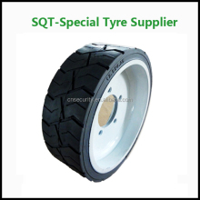 15*8*11 rubber wheels solid tires for scissor lift