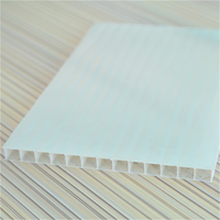 UV Protection Layer Sun Roof Glazing Polycarbonate Twin Wall Hollow Sheet 10 Years Guarantee Good Price