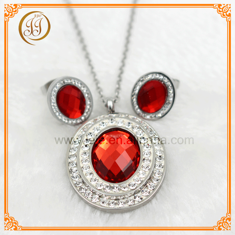 2016 Wholesale high quality noble ruby women necklace set