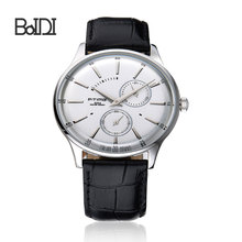 BAIDI OEM thin custom big face easy read dail stainless steel men sports watch