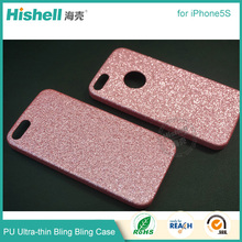Bling Glitter Shining Soft PU Leather Back Cover Accessories for iphone5