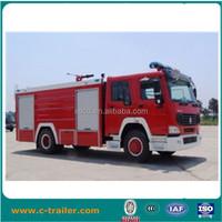2014 China 3000L-5000L Sinotruk HOWO 6 wheels LHD Fire trucks for sale