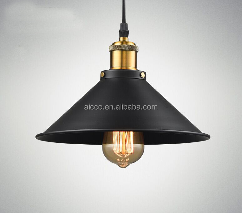 Aicco Vintage Dining Room Retro Lamp Loft Pendant Industria Lighting Iron Edison White Light Bulb