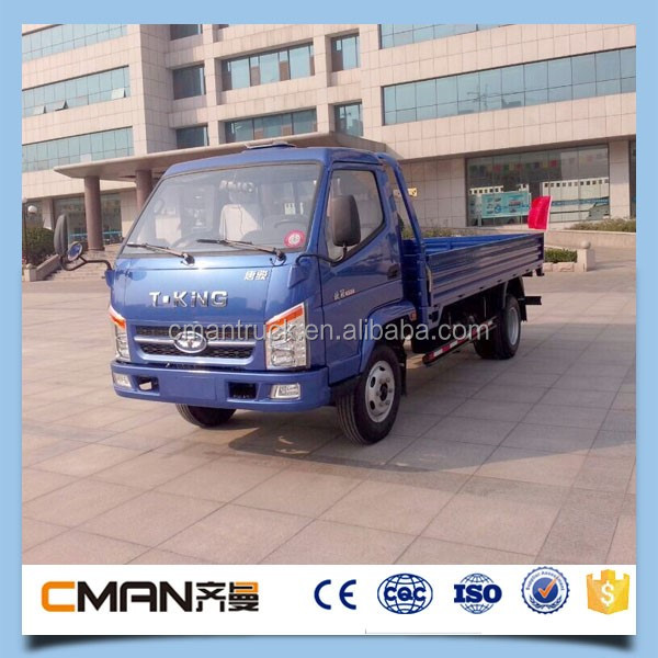 China new condition T-KING brand gasoline petrol mini light truck 2 ton for sale