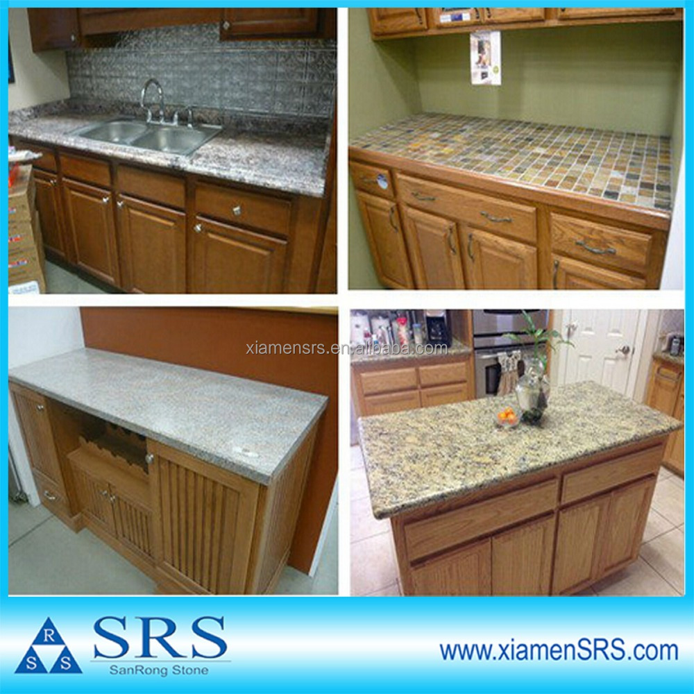prefabricated kitchen countertop and island table top