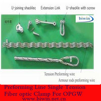 Preforming Line Single Tension Fiber optic Clamp For OPGW