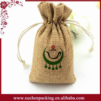 Top selling plain christmas jute bags bale with silk screen printing logo