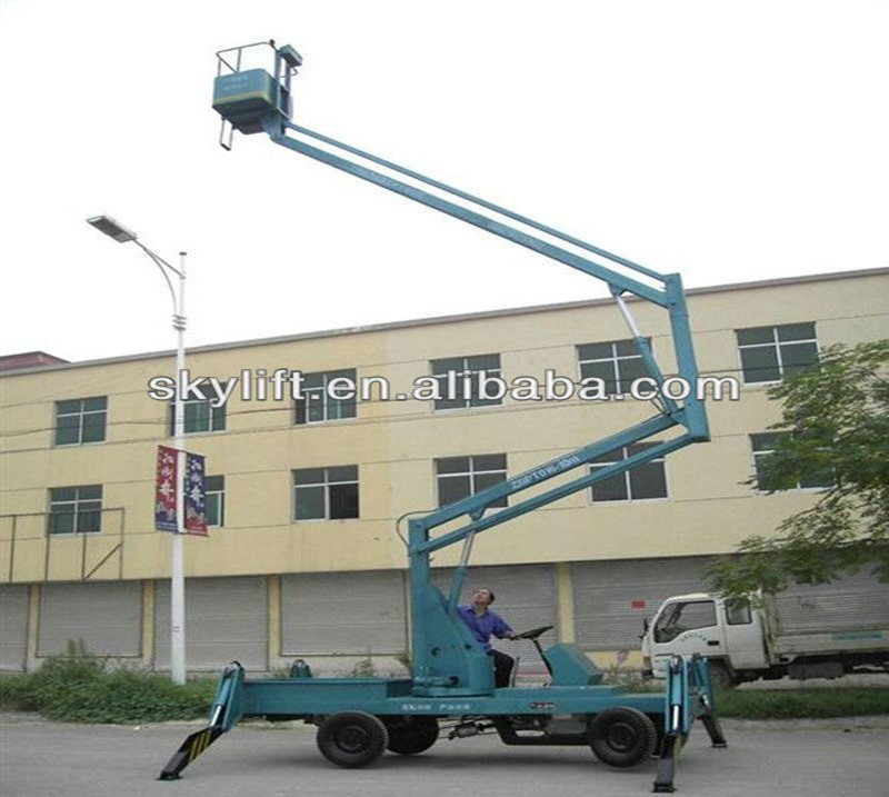 Hydraulic Boom Lifts For Pickups : Low price hydraulic truck mounted boom lift mobile