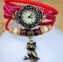 Owl Pendant Bracelet Watch alibaba online shipping leather strap vintage watches for women