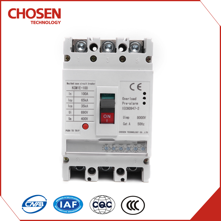 Moulded Case Type and 3,4 Poles Number electric circuit breaker