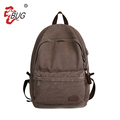 Vintage canvas backpack outdoor durable school bag usb charger backpack