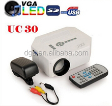 Cheap Mini LED Projector UC30 projector HDMI ,VGA,USB,SD Card slot Remote Control keystone correction For Children