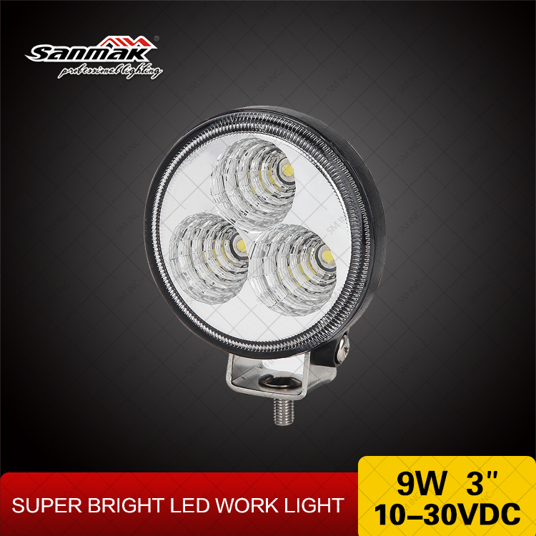9w 3inch Small Rond Side Transport Light LED Truck Light led work light