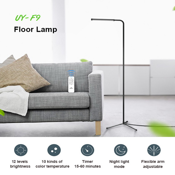 modern design dimmable floor lighting remote control. Black Bedroom Furniture Sets. Home Design Ideas