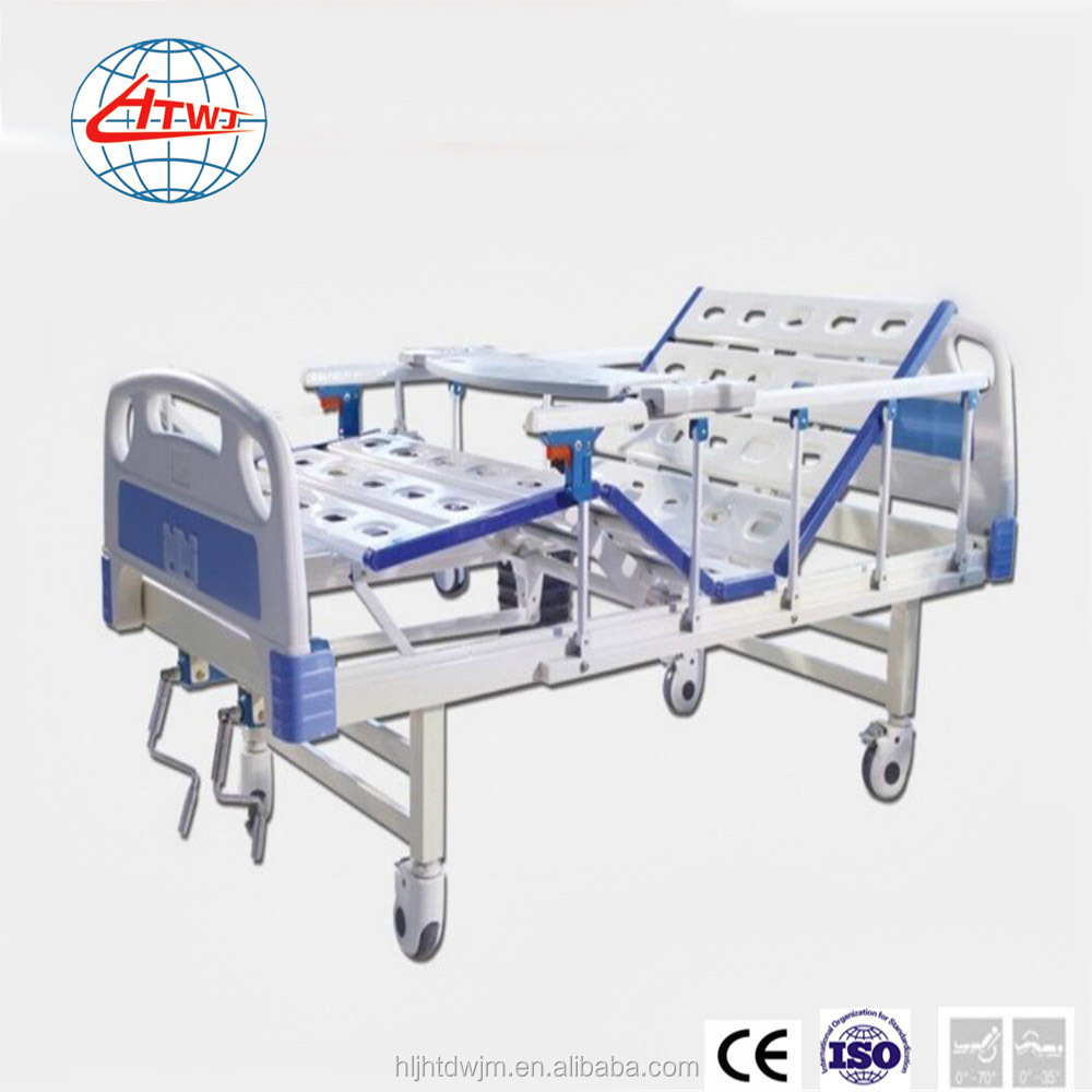 Hot sale cheap ! 2 cranks folding hospital bed