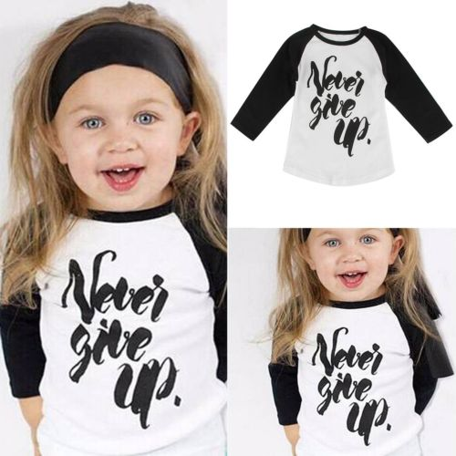 Cheap promotional Hot sale fashion custom wholesale kids baby children's printed boutique long sleeve organic cotton t shirt