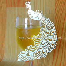 Wedding decoration Party Event Table Decoration- Peacock Name Place Card