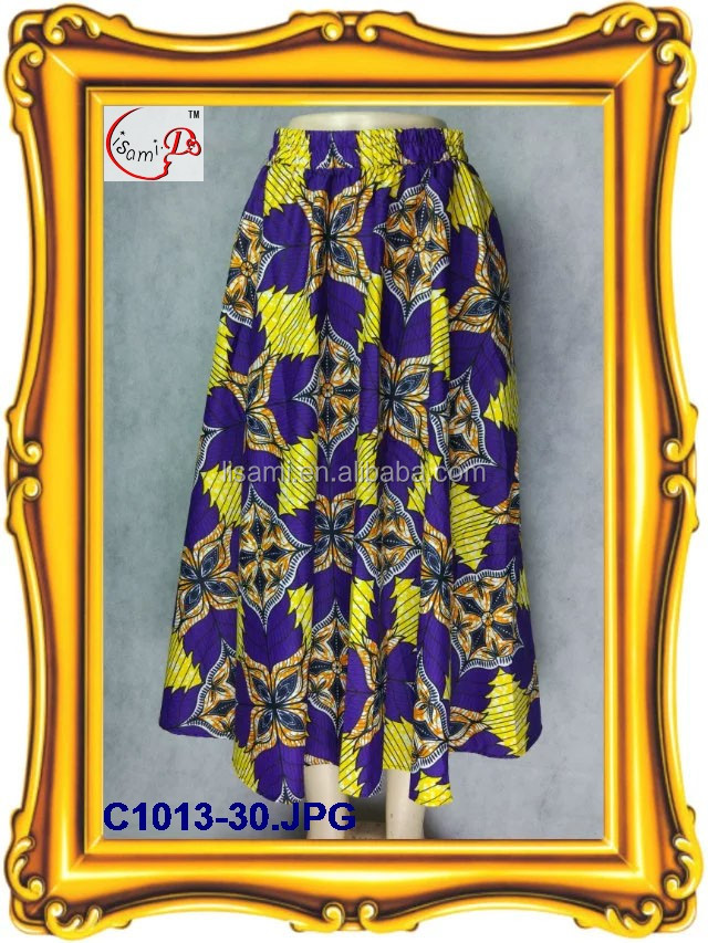 C1013 new coming fashion bestselling african style cool refreshing flowing skirt and half-lenth long skirt dress for promotion