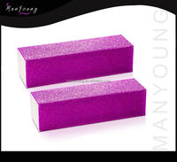 Promotion colorful magic four sides nail file buffer