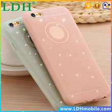 Glitter Powder Soft Silicone TPU Case For iPhone 6 6s 4.7 /plus 5.5 With Logo Thin Shining Back Cover Protective for iphon 6s
