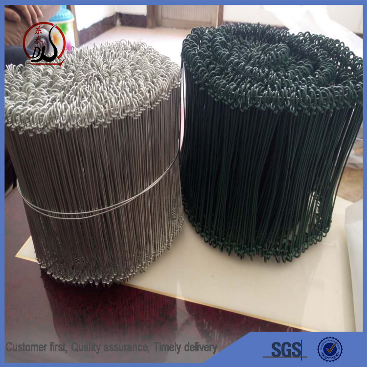 18gauge soft galvanized iron wire/ galvanized double loop tie wire export to America , Canada