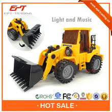 Hot selling kids friction cartoon toy truck with music and light