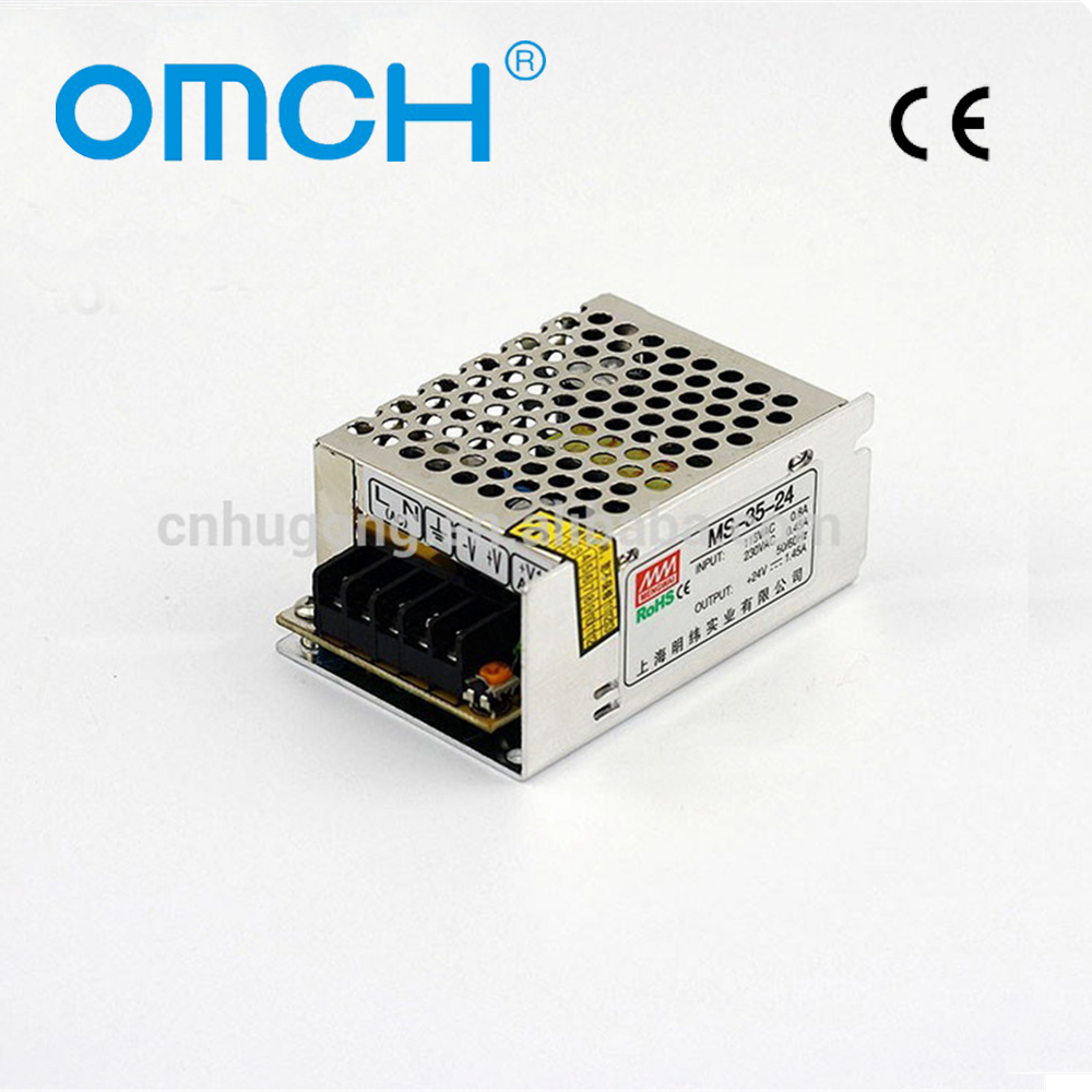 OMCH MS-35 35W AC-DC 5V 12V 15V 24V Industrial Mini SMPS Switching Mode Power Supply Adapter