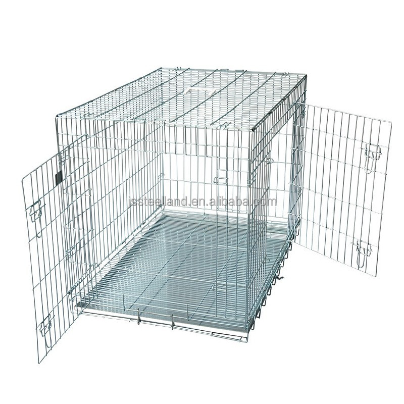 Galvanized wire welded dog crate