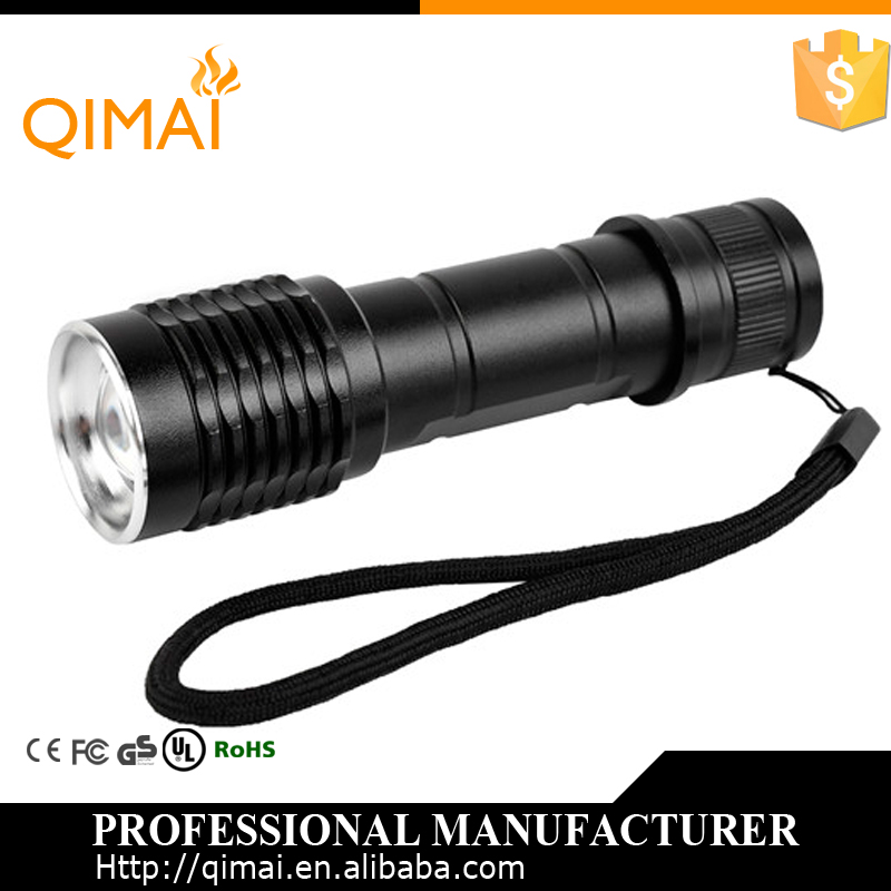 defense weapons 18650 battery bailong true torch t6 zoomable led flashlight