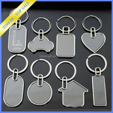 Fashion Valentines Gift blank photo metal keychain square shape keychain for couple gift