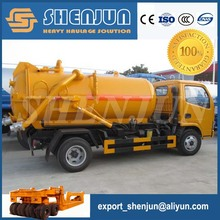 8000 liters sewage suction tanker truck