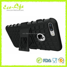 Wholesale Tyre Pattern PC Silicone TPU Phone Case with Kickstand for IPhone7