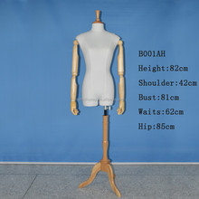 New Design Dressmaker Fabric Mannequin Female Half Body Manikin With Base Hot Sale