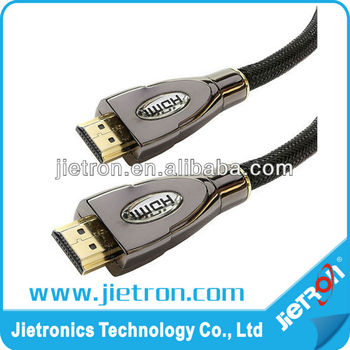 2.4M 1080P Full HD 3D HD-MI V1.4 M/M Gold HDTV Blu-Ray DVD Shielded Cable